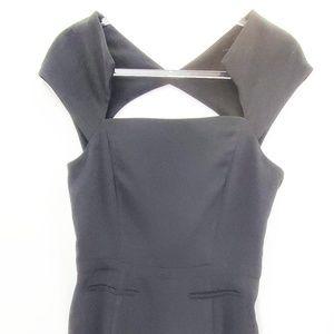 Maje France Little Black Dress Cupro Open Back